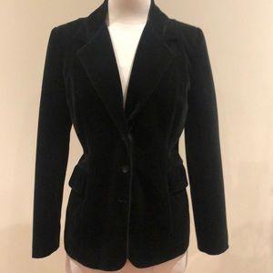 Women's tailored velvet blazer jacket